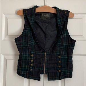 Women's Plaid Vest